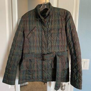 Ralph Lauren lightweight plaid puffer jacket